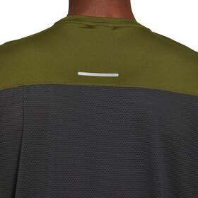 asics Race Maillot manches courtes zippé Homme, graphite grey/smog green